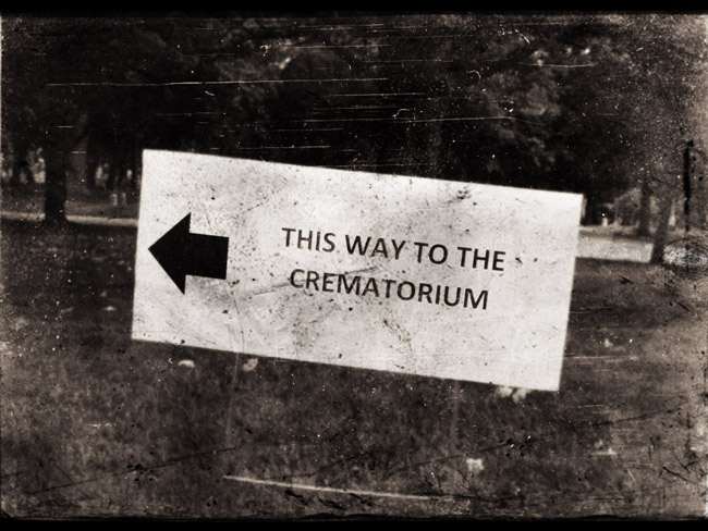 This way to the crematorium at Forest Home Cemetery in Milwaukee