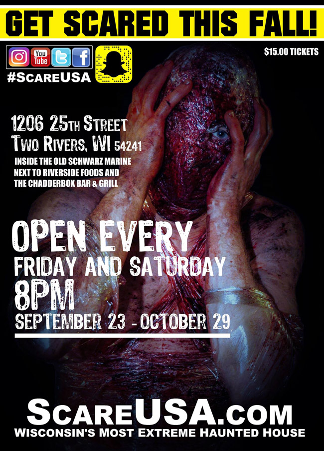 Scare USA haunted house in Two Rivers, WI