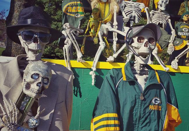 Skeleton football coach