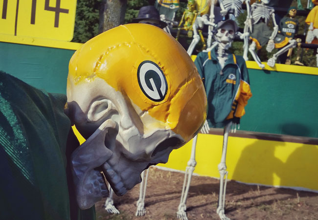 Green Bay Packers skull