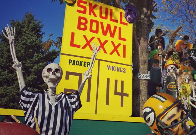 Jimmy Zamzow's Halloween Holy Hill Skeletons Skull Bowl