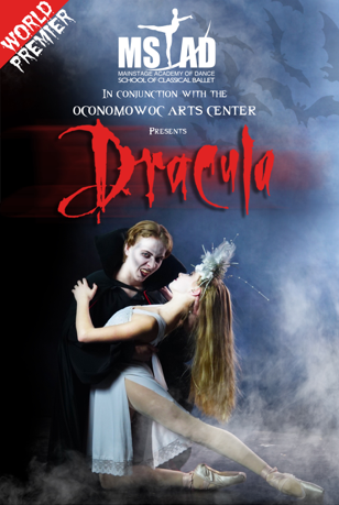 Dracula ballet this Halloween at the Oconomowoc Arts Center