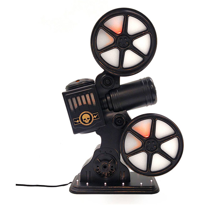 Movie projector halloween decor