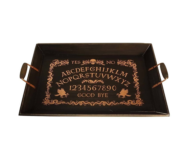 Ouija board serving tray for Halloween