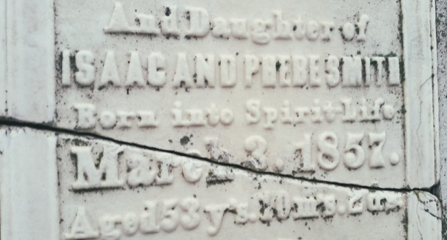 The Tallmadge family graves in Rienzi Cemetery