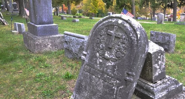 Haunted cemetery in Whitewater