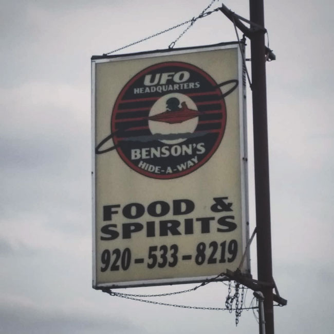 Benson's Hide-a-Way UFO headquarters in Dundee, WI, home of the annual UFO Daze event