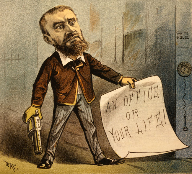 Charles Guiteau political cartoon