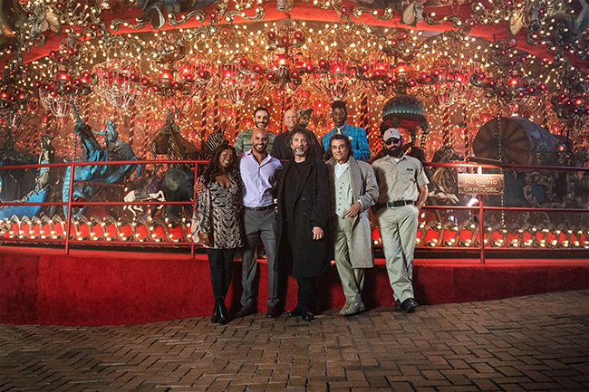 Neil Gaiman and the cast of American Gods at House on the Rock