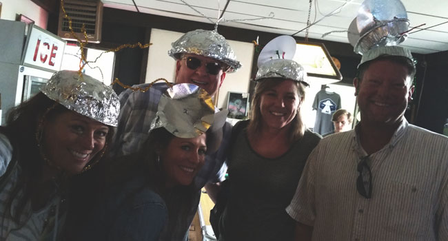 Tinfoil hats at UFO Daze