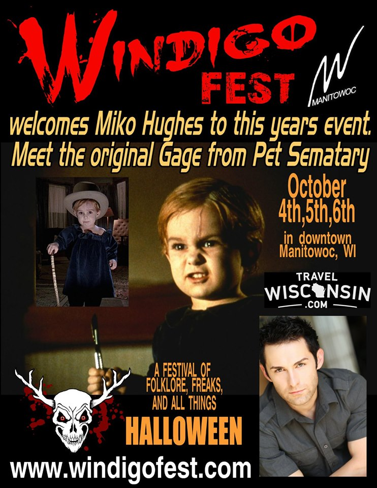 Special guest Miko Hughes from Pet Sematary at Windigo Fest 2019