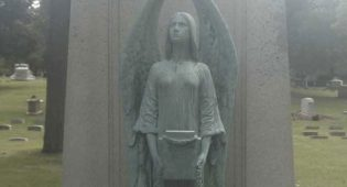 6-Foot Bronze Statue Stolen from Forest Home Cemetery