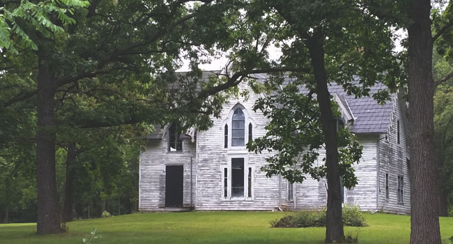 The abandoned Witherell House is one of many haunted places in Fond du Lac