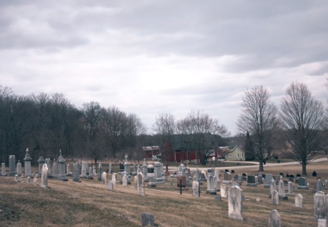 A lonely rural Wisconsin cemetery