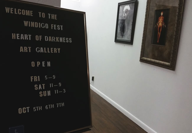 Windigo Fest dark art gallery