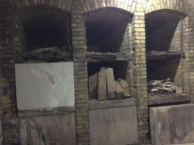 The abandoned crypt in Milwaukee's Calvary Cemetery