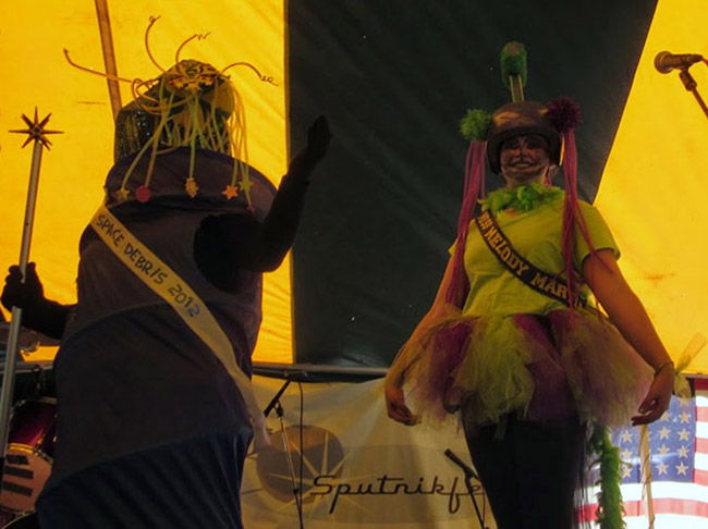 Ms. Space Debris Pageant at Sputnikfest in Manitowoc