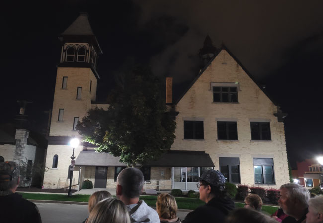 The old haunted city hall of West Bend