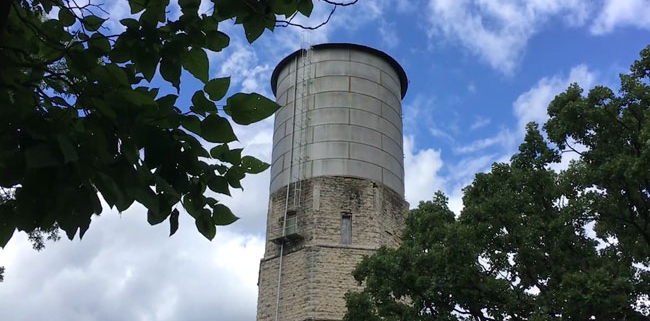 Haunted witch tower in Whitewater, WI