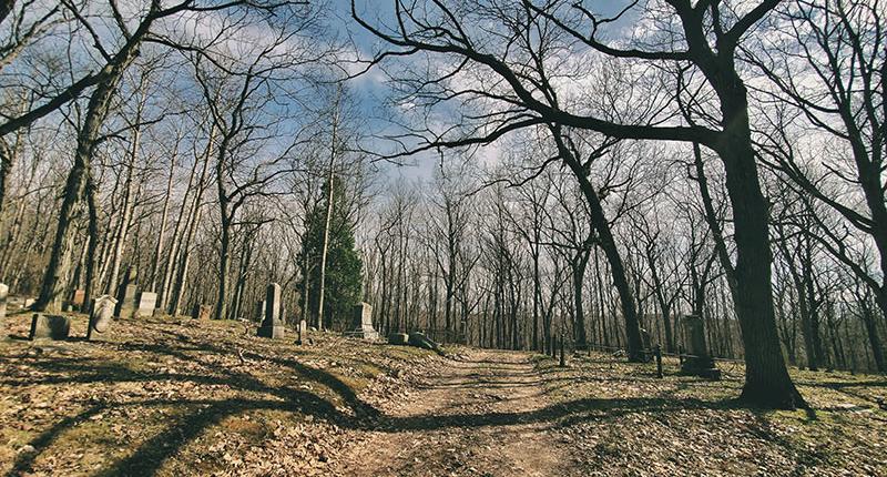 Haunted cemetery in Glenbeulah, Wisconsin