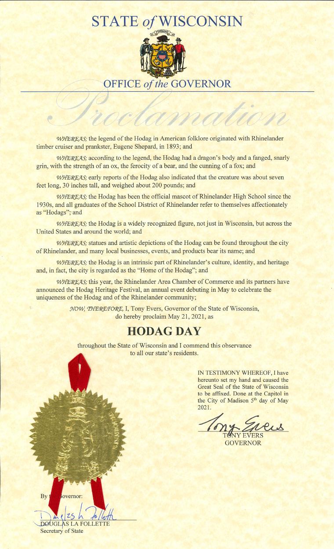 Hodag Day proclamation