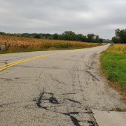 Bray Road, home of the Beast of Bray Road in Elkhorn, Wisconsin