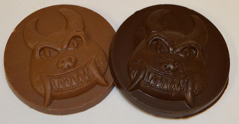 Chocolate hodag medallions
