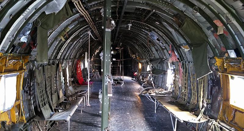 Interior of the plane at Don Q Inn