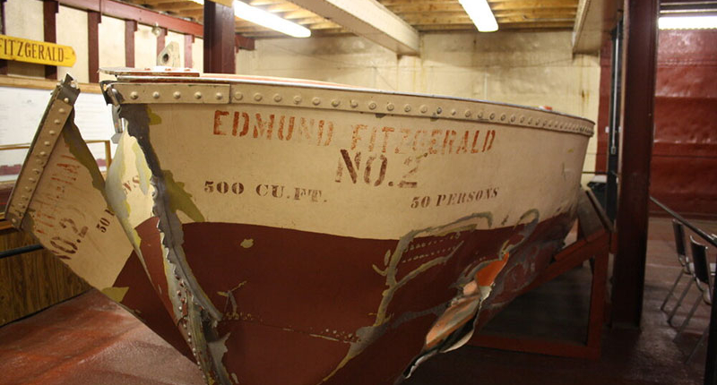 Lifeboat from the doomed Edmund Fitzgerald