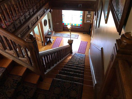 The staircase of Hamilton House