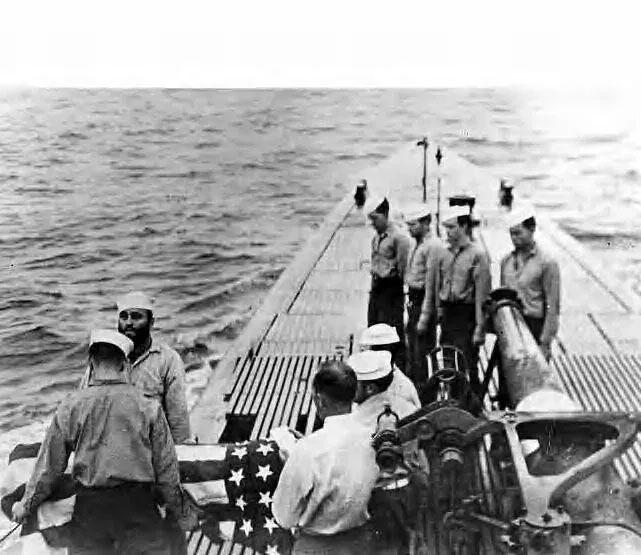 USS Cobia crewman Ralph Clark Huston Jr. burial at sea