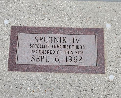 Sputnik crash site in Manitowoc, WI