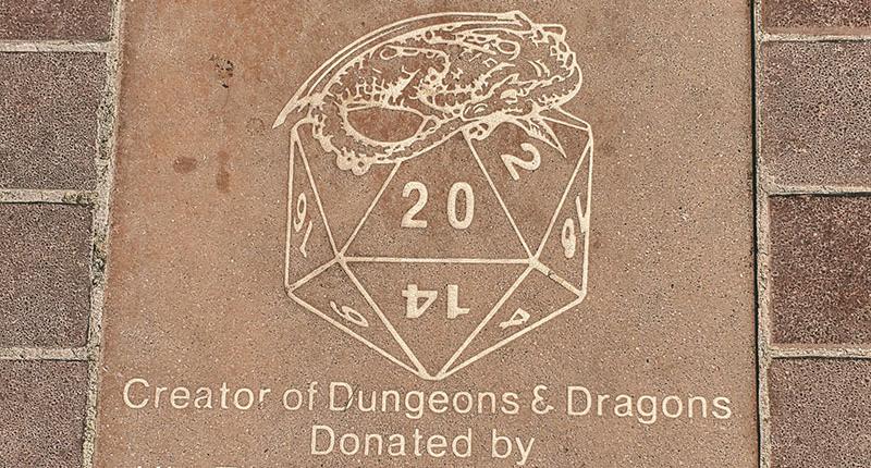 Memorial for Dungeons & Dragons creator Gary Gygax in Lake Geneva