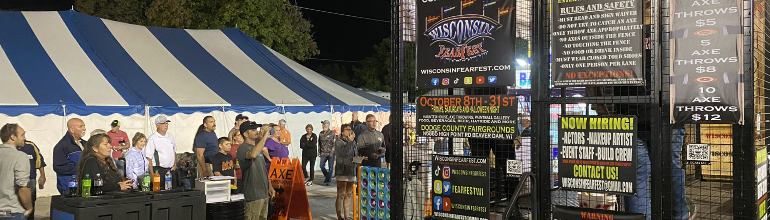 Axe throwing at Wisconsin Fear Fest