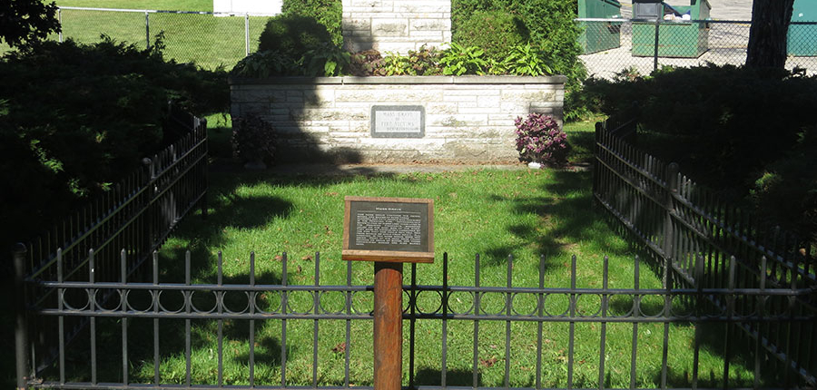 Mass grave in the Peshtigo Fire Cemetery